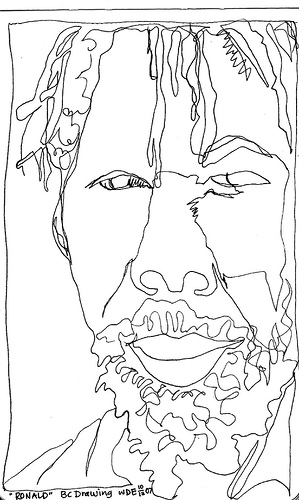Contour Line Drawing Face : Labadiemediaarts licensed for non commercial use only